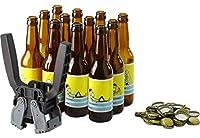 Vous venez de brasser votre bière chez vous ? Il vous faut maintenant notre kit d'embouteillage ! C'est le kit le plus complet pour mettre votre bière en bouteille Il est composé de 12 bouteilles long neck de 33cl, de 100 capsules et d'une capsuleuse...