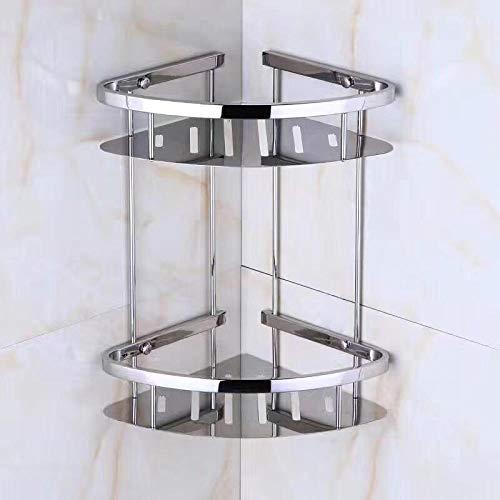 CBXSF Mehrschichtregal Doppelschichtiges Eckregal Aus Edelstahl 304, Badezimmerregal, Küchen-Multifunktionsregal, B