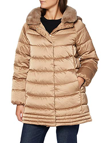Geox W CHLOO Parka, Outer Coconut, 48 Donna