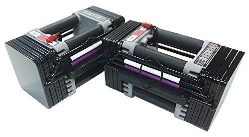 PowerBlock Elite Set Dumbell, 50-Pound (pair), Black - EL-50Plates1-4