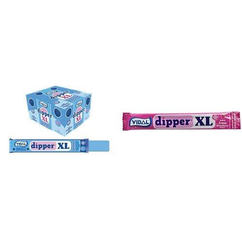Vidal Dipper XL Caramelo Masticable Sin Gluten Frambuesa y Fresa - 2x100 unidades