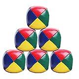 Eteng 6 Pack Malabares de Malabares Bolas Principiantes Durables y Coloridos Papelos Puzzle Ball Set