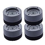 Piedi Lavatrice Piedi Rondella Anti Vibrazioni E con Cancellazione del Rumore Supporto Antiscivolo Mat per Lavatrici E 4pcs Dryersgray