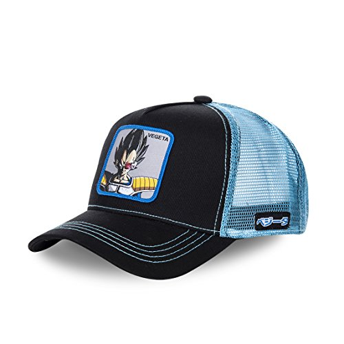 Collabs Gorra Dragon Ball Z Vegeta Trucker Negro OSFA (Talla única para Todos sexos)