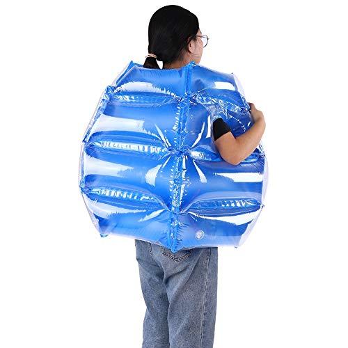EBTOOLS 2 bolas de burbujas cuadradas hinchables, pelota de fútbol para niños, 60 x 60 cm (azul)