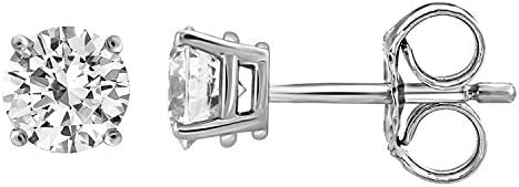 IGI Certified 70% OFF Outlet Diamond Stud Earrings for 14K Set Women High quality new Gold in S