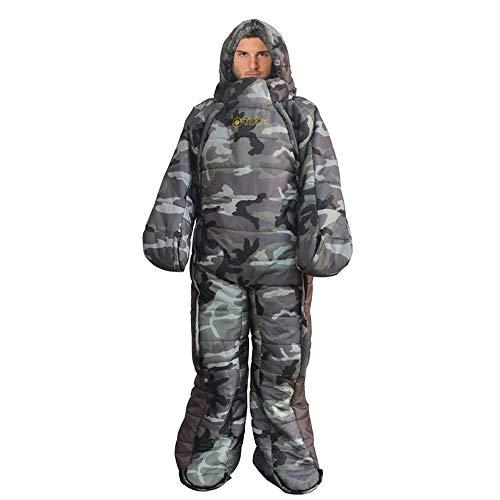 Mummy Sleeping Bag Humanoid Sleeping Bag Outdoor Camping Sleeping Bag Winter Indoor Outdoor Portable Ultralight Warm Adult Windproof Sleeping Bag Gamouflage