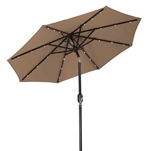 Trademark Innovations Solar LED Patio Umbrella