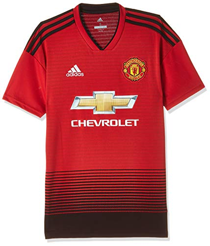 adidas 18/19 Manchester United Home, T-Shirt Uomo, Real Red S10/Nero, XL