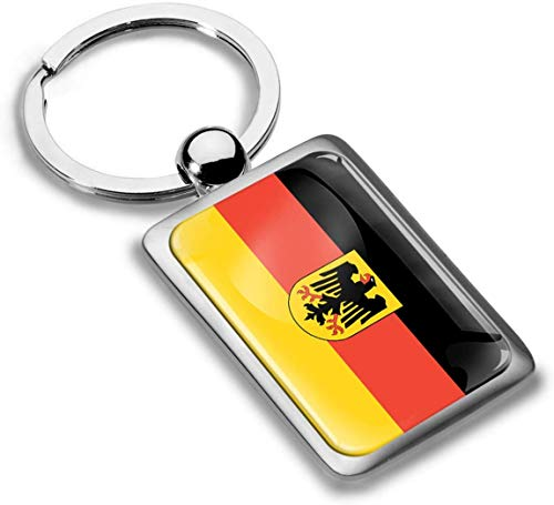 Skino sleutelhanger metaal sleutelring autosleutel geschenk metalen sleutelhanger sleutelhanger roestvrij staal Duitsland vlag Duitsland vlag KK 218