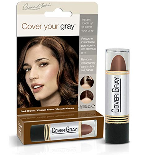 Cover Your Gray Hair Color Touch-Up Stick - Dark Brown (6-Pack), 0.9 Ounce