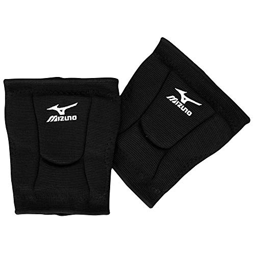 Mizuno Black Youth/Juniors Medium Volleyball Knee Pads Low Rise 6' Top of The Line (Youth Club/Rec Volleyball Players)
