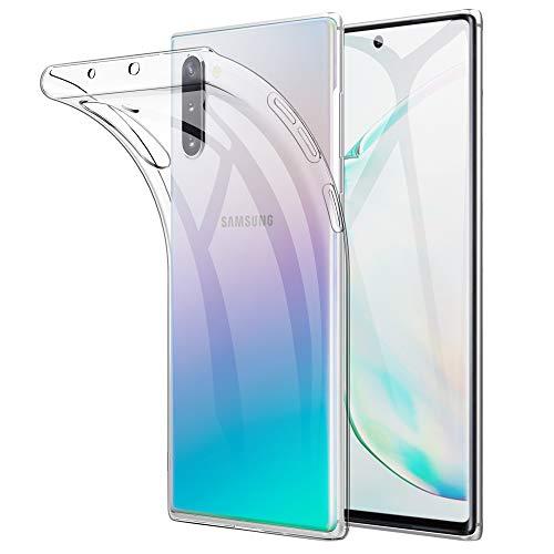 Beetop Samsung Galaxy Note 10 Hülle Schutzhülle Superdünn Handyhülle Transparent Weiche Silikon TPU Rückschale Hülle Cover für Samsung Galaxy Note 10 - Durchsichtig