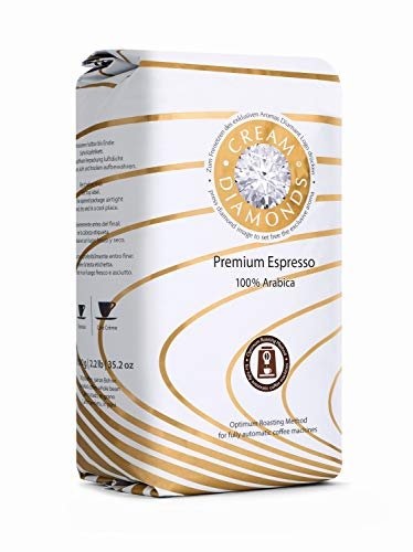 Cream Diamonds 100 % Arabica Café-Espresso ganze Bohne optimiert für Kaffeevollautomaten - 1000 g