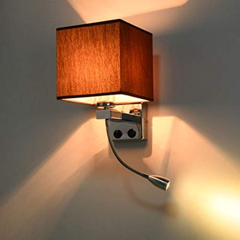 WangLei Wand Spotlight Lesen  Creative Tuch modernen minimalistischen Wohnzimmer Schlafzimmer Balkon Flur Wand LED-Lampe Nachttischlampe mit Schalter für Outdoor und Indoor (Farbe  Braun)