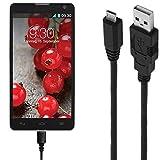 ASSMANN Ladekabel/Datenkabel kompatibel für LG Optimus L9 2 - schwarz - 1m