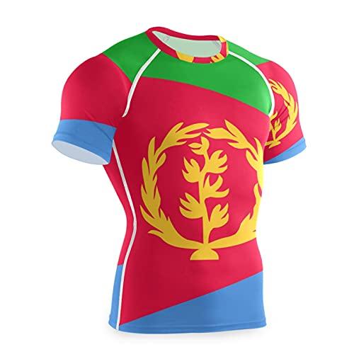 Magnesis Eritrea Flag - Maglietta da allenamento a maniche corte da uomo Multi L