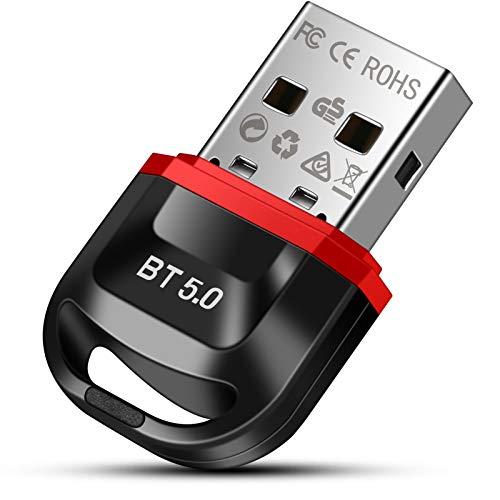 doedoeflu Bluetooth Adapter, Bluetooth 5.0 USB Adapter, Bluetooth Empfänger für Desktop, Drucker, Headset, Lautsprecher, für Windows 10/8.1/8/7
