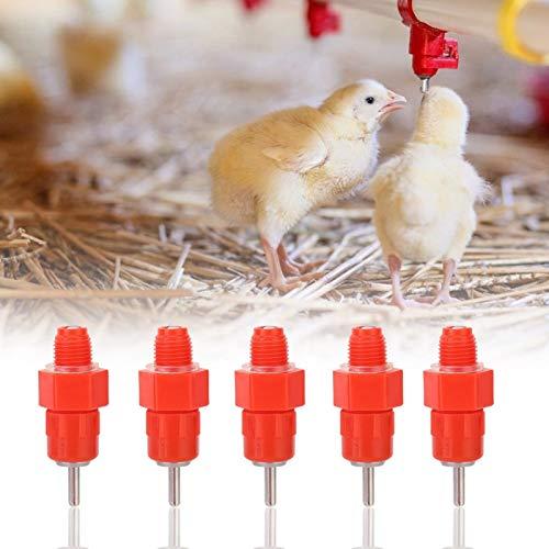 SALUTUYA Hühnerwassernippel Gans Trinkmaschine Anti-Aging Automatische Wassernippel Edelstahl und Kunststoff für Rohrleitungen