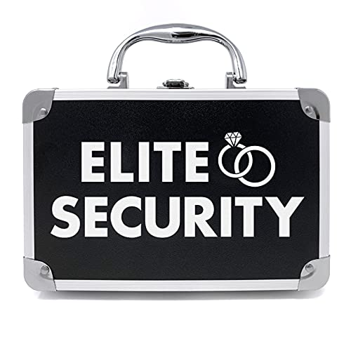 THE RING LEGEND Ring Security Ring Bearer Briefcase with Padded Slits to Hold Rings - Ring Bearer Gifts - Wedding Ring Security Case for Kids - Special Agent Ring Bearer Box for Boys Security