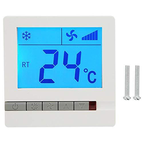 Termostato Digital, LCD Termostato Digital Compresor de retardo Aire Acondicionado Protección del termostato Unidad de Bobina del Ventilador Controlador de Temperatura