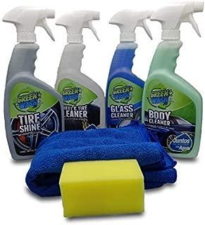 Green Wash 3 Kit Lavado Ecológico Exterior Lava Y Encera Tu Auto Sin Agua En Seco