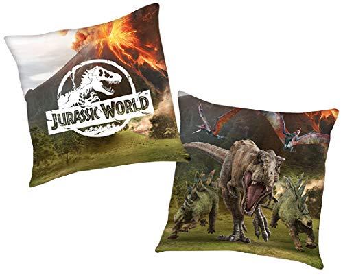 Jurassic World Kissen in 40x40cm mit Wendemotiv