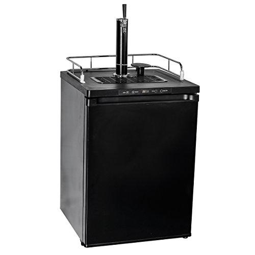 Smad Draft Beer Dispenser Single Tap Freestanding Keg Beer Cooler, Stainless Steel and Black