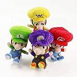 MAZ Peluche Toys 4Pcs / Lot Bros Peluche Toys Mario Luigi Bros Soft Relleno Muñecas Juguetes para Niños Niños Regalos de Cumpleaños
