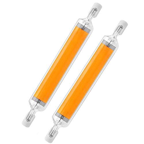 YDHNB 2PCS COB R7S Bombillas LED, 20W 118MM 110V 230V Regulable Blanco cálido 3000K, R7S 118 Reflector de Base Luz Lineal, Reflector de Doble Extremo de Ahorro de energía,220v~240v
