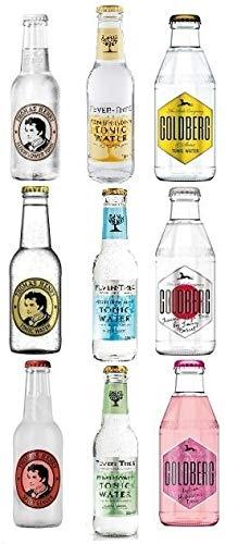 9 Flaschen Tonic Water Mix a 0,2L ink.MEHRWEG Pfand