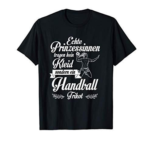 Handball Frauen Mädchen Handballerin Spruch Damen Handball T-Shirt