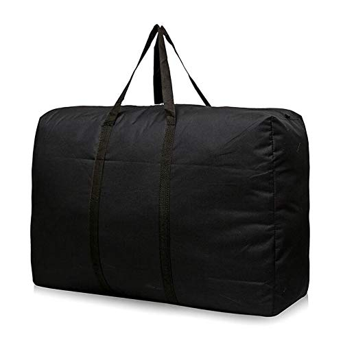 GCCLCF Storage Bags with Zips Duvet Storage Bag Large Underbed Storage Bags for Clothes Bedding Quilt Blankets Moving Comfortable and No-Smell Fabric Laundry BagsBlack