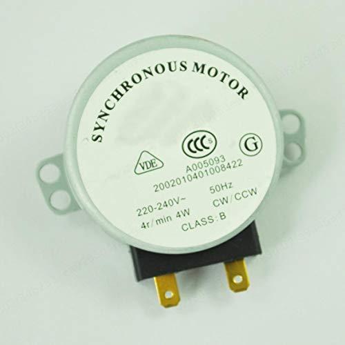 COMEYOU Motore sincrono 4W 220-240V 4 RPM CW/CCW del Motore sincrono della Piattaforma Girevole del Forno a microonde