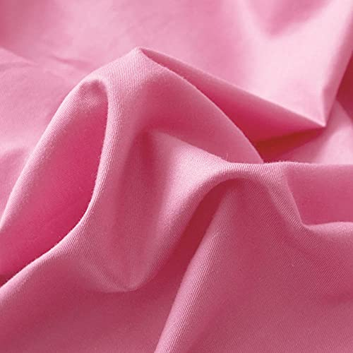 Colchón Antiácaros de Espuma de para Cama Microfibra Colcha de Cama Redonda de Puro algodón Color Liso-Rosa Violeta_2m