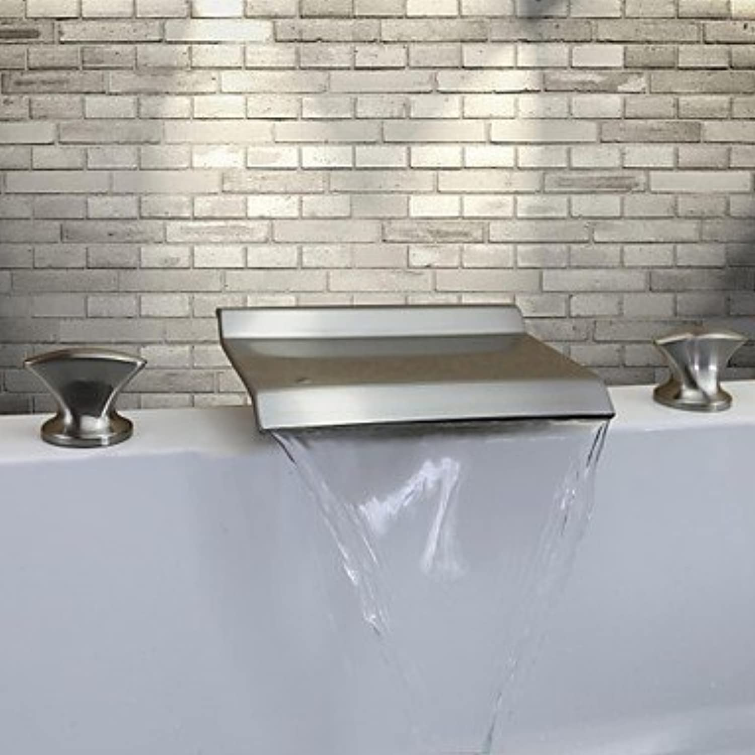 Miaoge Contemporary Waterfall?–?Brass (Brushed Nickel)