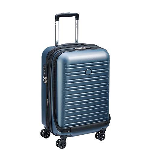 DELSEY Paris Segur 2.0 Equipaje de Mano, 55 cm, 42.9 litros, Azul