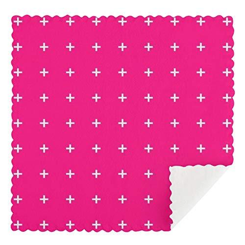 Meiya-Design Torchons de nettoyage réutilisables en forme de croix pour extérieur Rose vif 30,5 x 30,5 cm