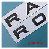 Pingping ZZPING Chrome Car PEQUEÑO TRANSPAÑO Lego Letras Emblem Badge Etiqueta Cubierta Cubierta Ajuste para Rango Rover Sport EVOQUE (Color Name : Matt Black)
