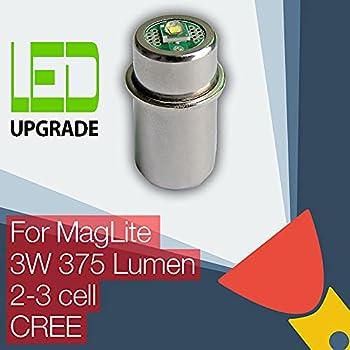 Ampoule de conversion ou mise à niveau Maglite DEL pour lampe torche ou lampe de poche Maglite 2D/2C 3D/3C Cell CREE XP-G2 CNC