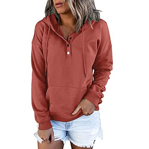 SLYZ Otoño Suéter De Color Sólido para Mujer Moda para Mujer Suéter con Capucha Blusa De Todo Fósforo para Mujer