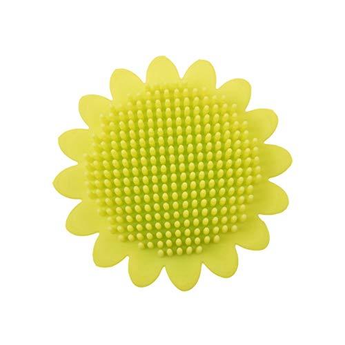 Baby Hair Scalp Massager, Silicone Sunflower Skin-friendly Shower Brush Shampoo Brush, Soft Baby Bath Care Brush with Flower Stem Handle, Wet Dry Hair Cleaning Brush for Men Women Kids