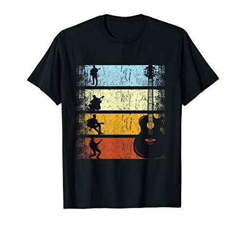 Retro Vintage Gitarrist Gitarre Musiker Gitarristen Geschenk T-Shirt