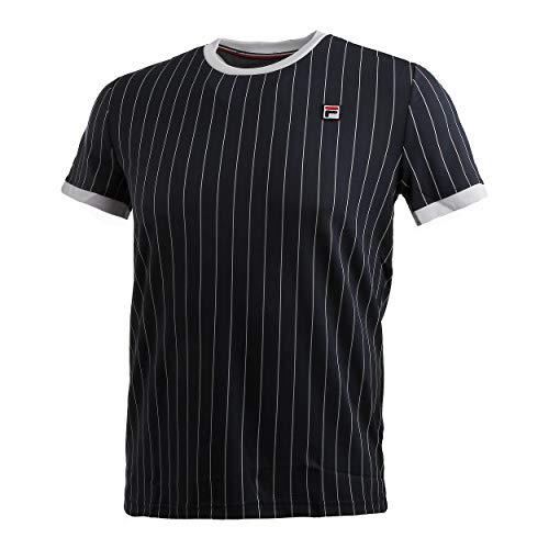 FILA Herren, Stripes T-Shirt Dunkelblau, Weiß, XXL Oberbekleidung