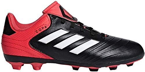 adidas Girls' Copa 18.4 Fxg J, Core Black/White/Real Coral, 5.5 M US Big Kid