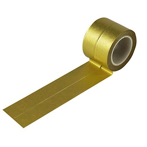 UOOOM 2 rotolo 10m x 15mm Tape decorative Washi Tape Nastri Adesivi Decorativi (D'oro)