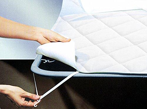 Tata Home Coprirete Copridoghe Trapuntato Misura 2 Piazze Matrimoniale Misura 180x200 cm con Ganci ed Elastici per Il Fissaggio 100% Morbida Microfibra di Poliestere