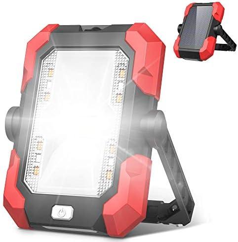 Work Lights 4400mAh Solar Emergency Lights LED Portable Outdoor Camping Lights 4 Brightness product image