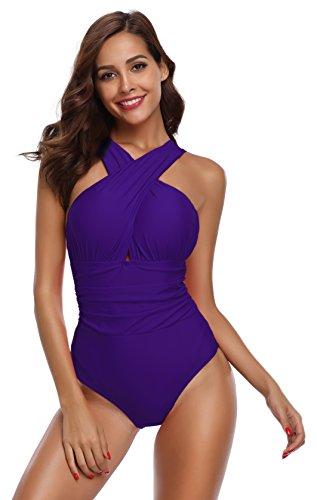 SHEKINI Gewatteerd Badpak Met Ruches Voor Dames Badmode Dames Badpak Dames Zwemkleding Beachwear