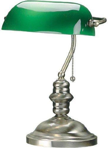 lampara de escritorio verde marca Lite Source Inc